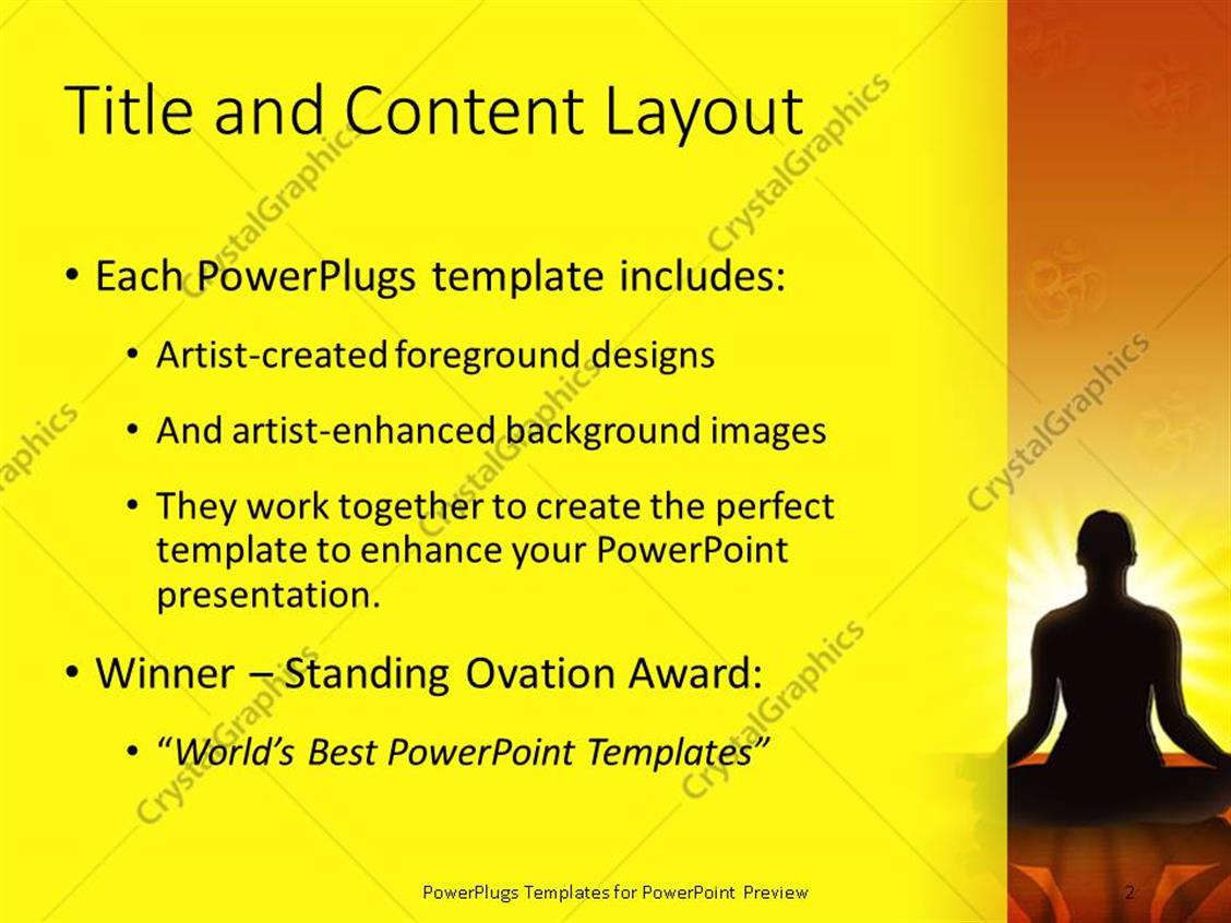 Powerpoint template woman silhouette performing yoga meditation powerpoint products templates secure toneelgroepblik Choice Image