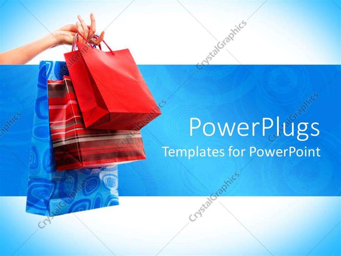 PowerPoint Template Displaying Women Shopping Craze