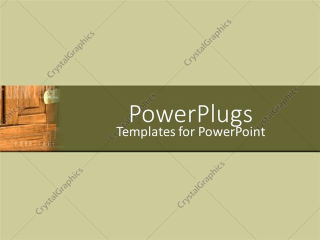Powerpoint Template A Wood Grain With Greenish Background