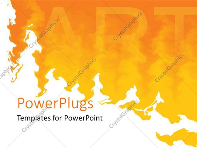 powerpoint template word art on yellow painted background with