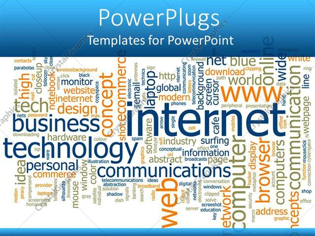 Powerpoint template word cloud with words related to internet powerpoint template displaying word cloud with words related to internet technology business maxwellsz