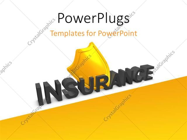 Powerpoint template the word insurance with a yellowish background powerpoint template displaying the word insurance with a yellowish background toneelgroepblik Images