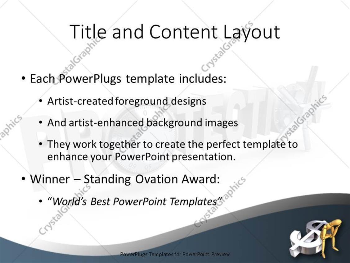 Powerpoint template the word protection with safe dials with man powerpoint products templates secure alramifo Image collections