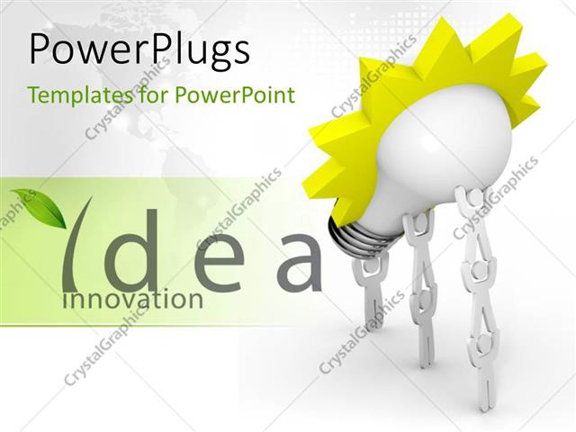 Powerpoint template the words idea innovation with a bulb 17374 powerpoint template displaying the words idea innovation with a bulb toneelgroepblik Image collections