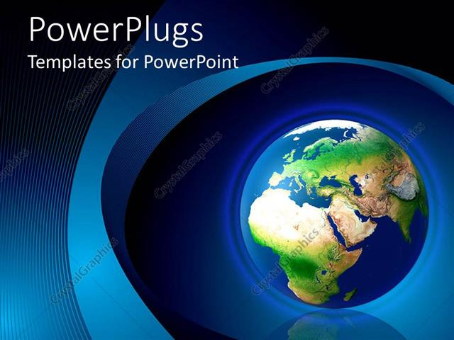 PowerPoint Template World Globe Earth With Africa Europe Asia
