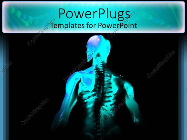 Powerpoint template x ray of man showing skeleton ribs and spinal powerpoint template displaying x ray of man showing skeleton ribs and spinal chord toneelgroepblik Choice Image