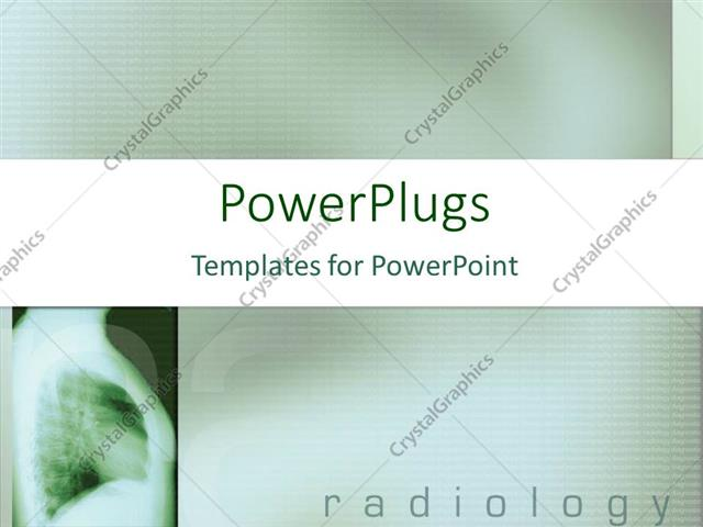 Powerpoint Template X Ray Oh Human Chest With Radiology Word Typed