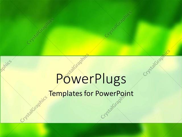 PowerPoint Template Displaying Yellow and Green Blurry Abstract Background