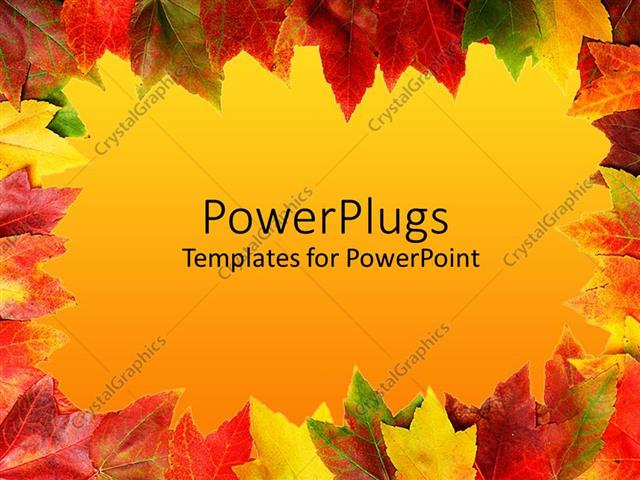 Powerpoint template yellow green red rusty orange colorful powerpoint template displaying yellow green red rusty orange colorful autumn leaves toneelgroepblik Gallery