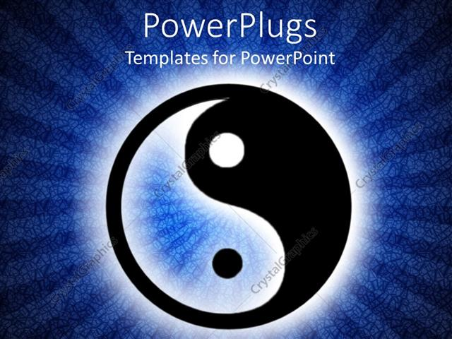 Powerpoint template yin and yang symbol in illuminated dark blue powerpoint template displaying yin and yang symbol in illuminated dark blue background toneelgroepblik Gallery