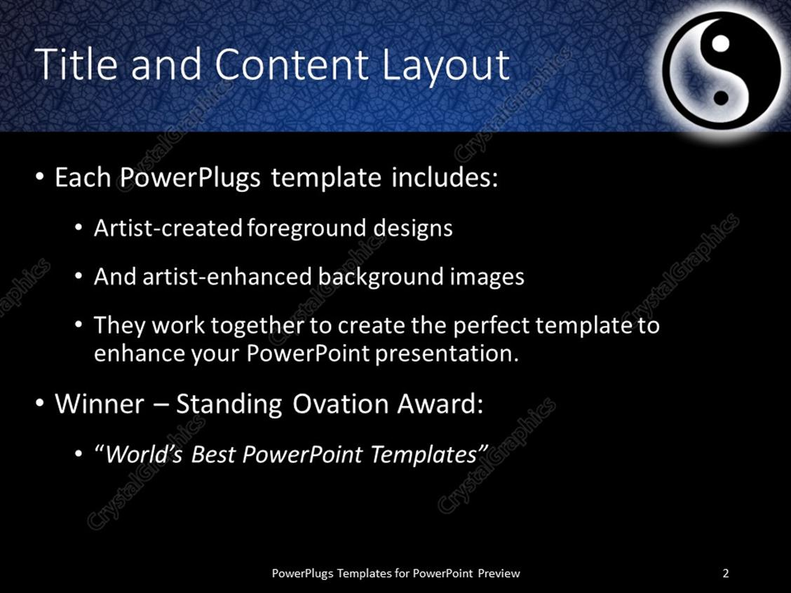 Powerpoint template yin and yang symbol in illuminated dark blue powerpoint products templates secure toneelgroepblik Gallery