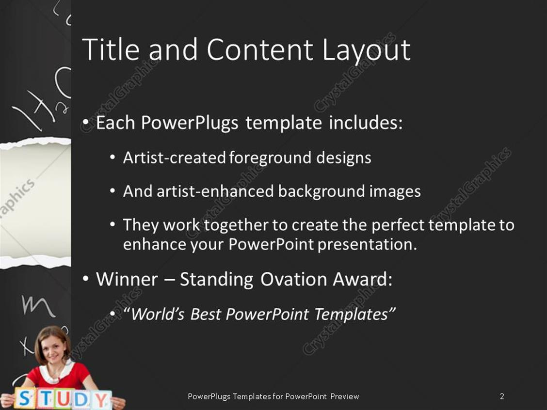 Powerpoint template young smiling teacher with study letters and powerpoint products templates secure alramifo Gallery