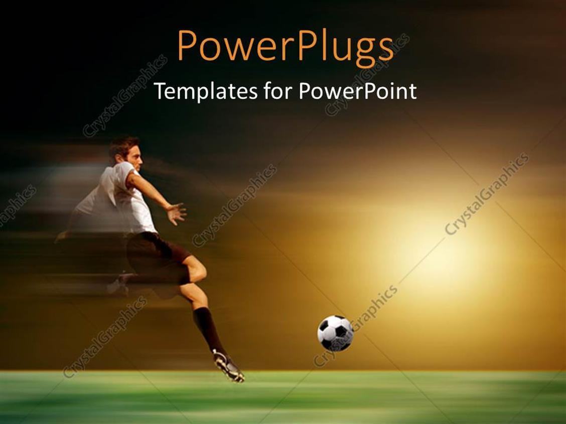 Powerpoint template young soccer player in acrobatic with sunset powerpoint template displaying young soccer player in acrobatic with sunset toneelgroepblik Choice Image