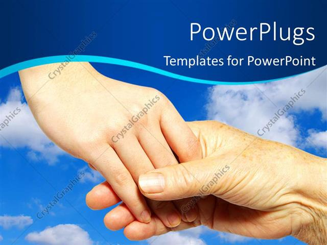Powerpoint template youth holding hand and helping some elderly powerpoint template displaying youth holding hand and helping some elderly people with sky in background toneelgroepblik Gallery