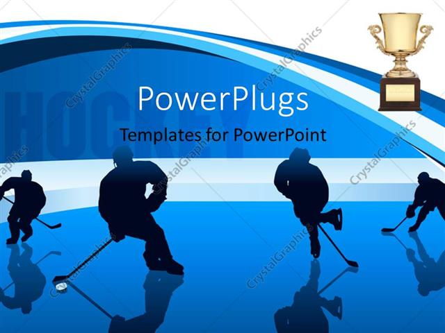 Powerpoint template youth playing hockey with hockey keyword and powerpoint template displaying youth playing hockey with hockey keyword and trophy in background toneelgroepblik Choice Image