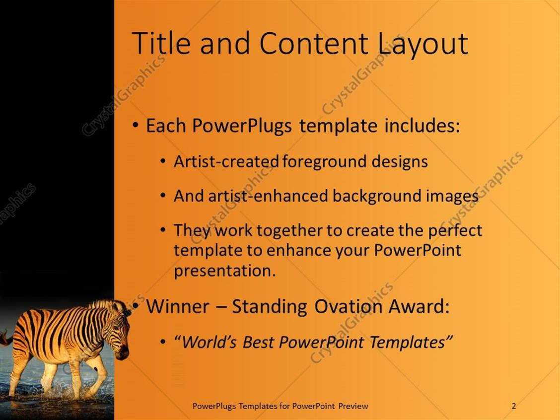 Powerpoint template a zebra crossing a river with place for text in powerpoint products templates secure toneelgroepblik Image collections
