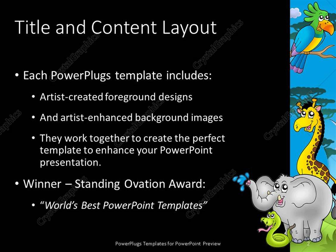 Elephant powerpoint template image collections templates example powerpoint template zoo theme with exotic animals with hippo powerpoint products templates secure alramifo image collections toneelgroepblik Choice Image