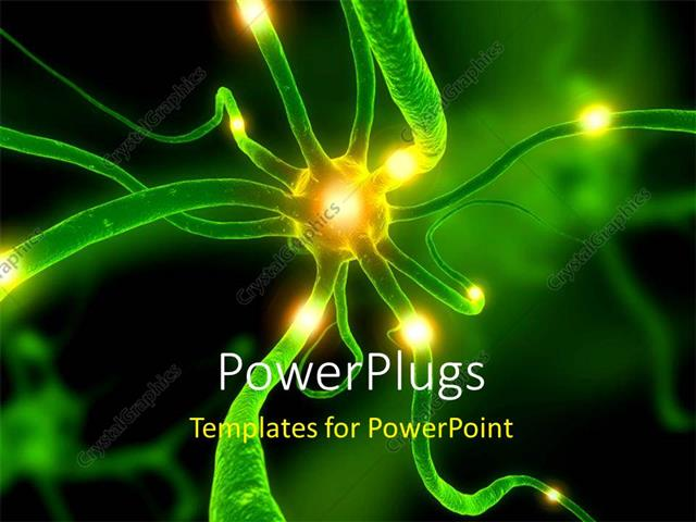 Powerpoint template a zoom in view of a neuron cell 1340 powerpoint template displaying a zoom in view of a neuron cell toneelgroepblik Choice Image