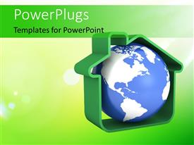 Blue Green Powerpoint Templates W Blue Green Themed Backgrounds