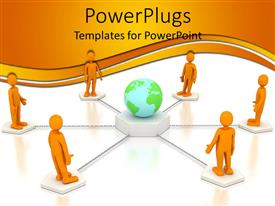 5000 communication powerpoint templates w communication themed presentation with a 3d design of people around the earth giving the concept of communication template size toneelgroepblik Images