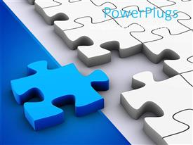 Presentation design consisting of 3D jigsaw puzzle pieces, white puzzle pieces and one blue puzzle piece