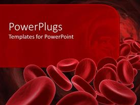 Beautiful PPT layouts with 3D red blood cells going through the body with red background for text