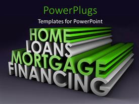 Elegant presentation design enhanced with 3D rendering of financial and mortgage terms on Grey background