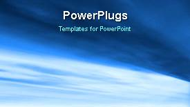Colorful PPT theme having abstract animated background with light glow on blue surface - widescreen format