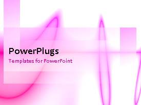 Amazing PPT layouts consisting of abstract animated depiction of pink pulse lines on white background