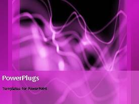 Beautiful slide set with abstract animation of purple smoke on black background