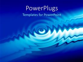 PPT theme having abstract background with blue bright water ripples