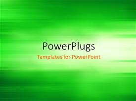 PPT theme enhanced with abstract background depicting motion blur in green background
