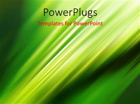 PPT theme enhanced with abstract background with diagonal light stripes on green surface