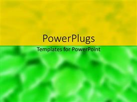 PPT theme enhanced with abstract background with green and orange divisions