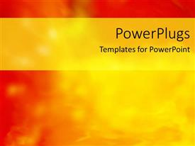 Elegant slides enhanced with abstract background in red, orange and yellow with yellow banner