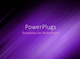 Amazing PPT theme consisting of abstract background showing purple motion blur with dark edges