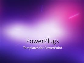 PPT theme having abstract beautiful blurred light compostion background