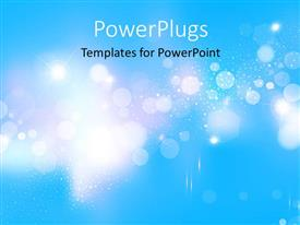 PPT layouts consisting of abstract blue background with light sparkles and glowing stars