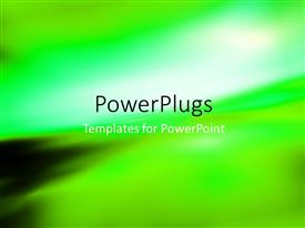 Slide deck consisting of abstract blurry background with light glow on green gradient