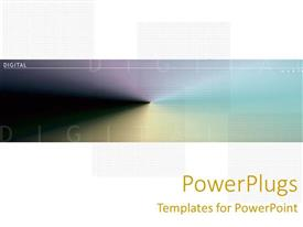PPT theme enhanced with abstract depiction of colors with Digital text on a white background