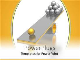 PPT layouts consisting of abstract depiction of lots of silver and gold balls