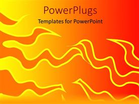 Presentation enhanced with abstract design of fire on orange background
