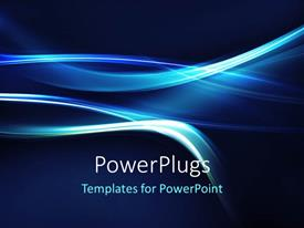 Amazing theme consisting of abstract electric blue curves on dark background