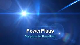 Presentation theme featuring abstract lights background with place for text - widescreen format