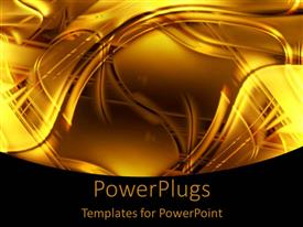 Elegant presentation design enhanced with abstract swirling background with gold and black lines