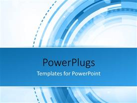PPT theme with abstract technology concept with blue and white colors