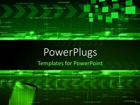 PPT layouts enhanced with abstract technology design with arrows and angled blocks