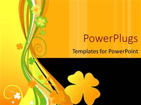 Amazing presentation design consisting of abstract vector floral design