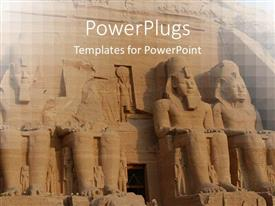 5000 africa powerpoint templates w africa themed backgrounds ppt theme enhanced with abu simbel colossus egypt ancient statues africa template size toneelgroepblik Gallery