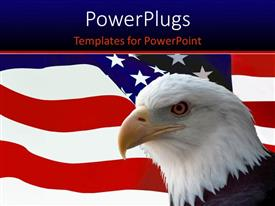 Colorful slide deck having american Eagle over the United States flag